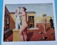 Ancienne Affiche Art Print Poster Peintre Surréaliste Paul Delvaux Pygmalion