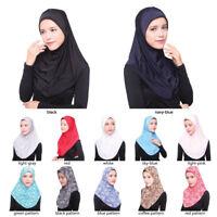 Eg _ Femmes Musulmane Hijab Amira Islamique Uni Doux Écharpe Long Tête Châles Co