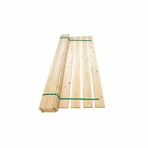 Super King 6ft Replacement Wooden Pine Flat Bed Slats Set 1825mm Webbed - NEW