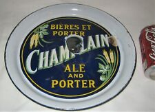 Antique Pre Prohibition Champlain Beer Ale Porter Tap Sign Porcelain Art Tray Us
