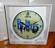 """THE BEATLES WALL CLOCK. 9"""" DIA. JOHN, PAUL, GEORGE, RINGO....FREE SHIPPING"""