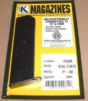 Walther P38 P-38 9mm 8 Round RD Blued Steel Magazine/Mag/Clip Triple K 75M