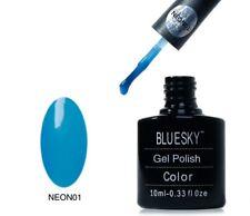 Bluesky UV LED Soak Off Nail Polish Neon 01 Blue 10ml