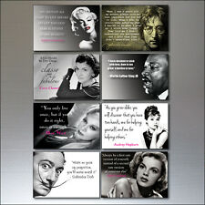 Set 0f 8 Inspirational Quotes Vintage Fridge Magnets