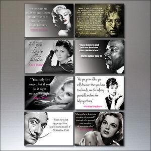 Fridge Magnets Inspirational Quotes Vintage Set 0f 8 - No.1