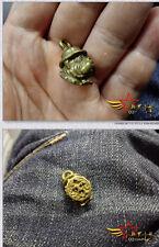 Gentleman Vintage Fob Solid Brass Copper Dog Head Key Chain Ring Hook Wallet