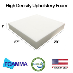 "Foamma 27"" x 29"" High Density Upholstery Foam New Cushion Replacement"