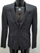 Montague Burton Men's Single Breasted Wool/silk Blend Jacket Grey Marl 36s