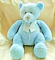 Russ Berrie Snookie Blue Teddy Bear Plush Animal With Bow and Rattle #21221