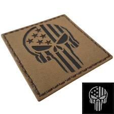 IR punisher skull USA flag coyote tan infrared brown IRR hook-and-loop patch