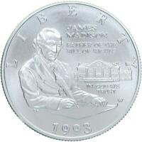 1993 Bill of Rights Silver 50c BU Commemorative Madison Half Dollar COIN ONLY
