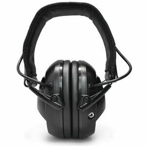 EM-9002D Black Folding Drummer Earmuffs Shooting Noise Cancelling Protection