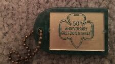 1962 Girl Scout Key Chain - 50th Anniversary - Rare - Very good condition.