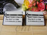 2pcs Li-70b Li70b Battery for Olympus X-940 X-990 VG-160 VG-150 FE-4040 D-745