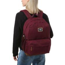 Vans Realm Plus Backpack -- Purple Prune Brown Suede Bottom School Laptop Bag