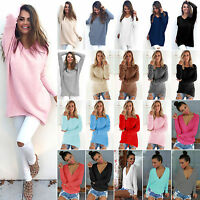 Oversize Women Loose Knitted Sweater Winter Warm Jumper Pullover Knitwear Tops