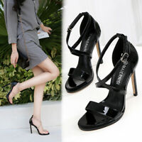 Clear Drag Queen Sandals Crystal Strappy Mens Heels Crossdresser Women Shoes
