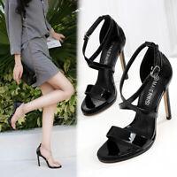 Clear Drag Queen Sandals Crystal Strappy Mens Heels Crossdresser Women Shoes