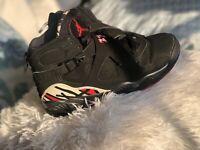 Size 6 Black Red And White Retro Jordan's