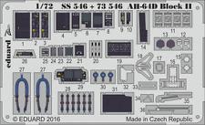 Eduard Zoom ss546 1/72 Hughes Ah-64d Apache bloque Ii Academy