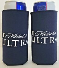 Michelob Ultra Slim Can Koozie 12 oz Cooler Holder ~ Two (2) New & Free Shipping