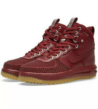 Nike Lunar Force 1 High Duckboot Team Red Burgundy Trainer Boots Size 6