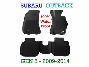 To suit Subaru Outback 3D Rubber Floor Mats - 2009-2014