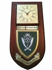 7 Deo Gurkha Rifles Personalised Military Wall Clock Plaque UK Made for MOD