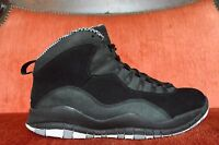 WORN TWICE Nike Air Jordan X 10 Retro BLACK WHITE STEEL STEALTH 310805-003 10.5