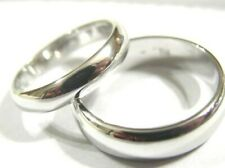 KAEDESIGNS GENUINE 2 X CUSTOM MADE SOLID 18CT WHITE GOLD WEDDING BANDS RINGS