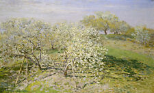 Spring - Fruit Trees in Bloom by Claude Monet 75cm x 45.2cm Canvas Print