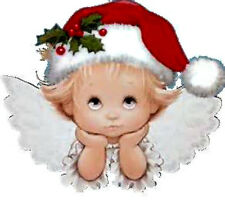20  WATER SLIDE NAIL ART DECALS /TRANSFERS BABY CHRISTMAS ANGEL
