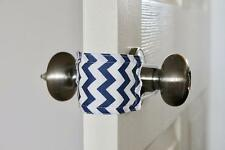 Latchy Catchy  Door Latch Cover Jammer Noise Silencer Cushion  -  Navy Chevron