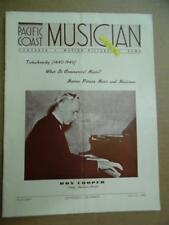 1940 PACIFIC COAST MUSICIAN Magazine July 20 American Pianist Roy Cooper Vintage