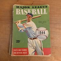 1944 Stan Musial Major League Baseball Facts Figures & Official Rules Vtg