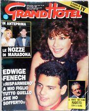 RIVISTA SETTIMANALE GRAND HOTEL N.45 1989 MARADONA EDWIGE FENECH