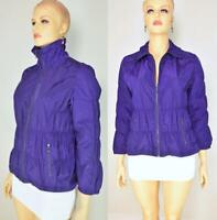 Zenergy by Chico's Purple Ruched Zip Front Windbreaker Jacket size 3
