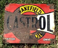 Genuine Castrol Six Bottle Enamel Oil Rack Sign