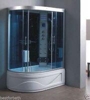 Steam Shower Cabin, Acupuncture,Massage,Whirlpool Tub.BLUETOOTH.USA Warranty