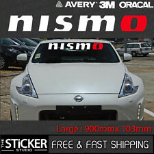 Nismo Logo Sticker Racing Car 900mm x 103mm suit 370z 350z GTR Skyline Silvia