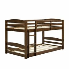 Dorel Living Sierra Twin Over Twin Wooden Bunk Bed with Ladder and Guard Rail.