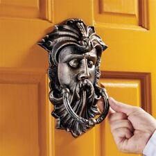 Sp13088 - Sutherland House Greenman Authentic Foundry Iron Door Knocker
