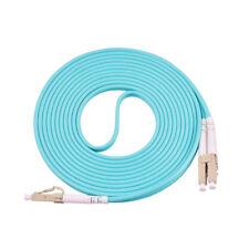!In stock 20M LC-LC Duplex 50/125 Multimode 10 Gb Fiber Patch Cable Aqua OM3