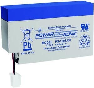 Power-Sonic PS1208  PS-1208WL 12V 0.8Ah 12 volt Sealed Lead Acid 12 V Battery