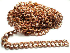 10 FT -  COPPER COATED STEEL DOUBLE LINK CHAIN - M84