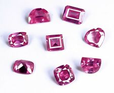 60 Ct.+/8 pcs Natural Certified Untreated Pink Morganite Gemstone Mix Shape lot