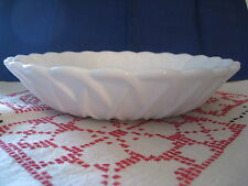 Indiana Glass Pretzel Milk Glass Textured Bowl Soup/Coupe MidCentury Vintage Evc