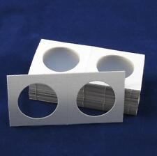 50 Cardboard 2.5x2.5 Coin Holder Mylar Flips for Silver Eagles and Crowns