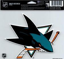 "(HCW) San Jose Sharks Multi-Use Decal Sticker 5""x6"" NHL Clear Back *FREE SHIP"