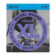 D'addario EXL115 Nickel Wound Electric Strings 11-49, Medium/Blues-Jazz Rock